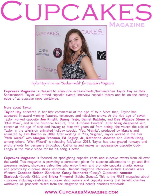 Taylor Hay One sheet - Cupcakes Magazine